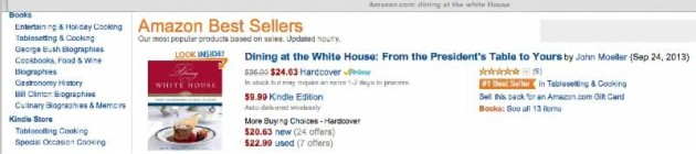 Dining At The White House Amazon Best Seller
